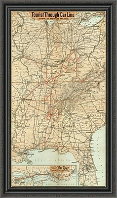 East Urban Home 'Tourist Through Car Line; Louisville & Nashville Railroad; 1890' Framed Print