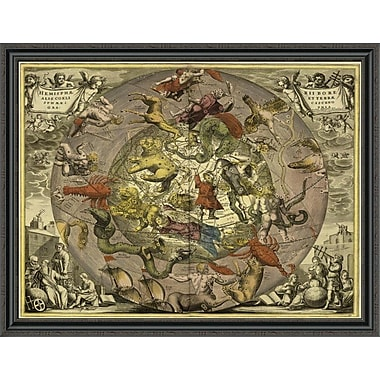 East Urban Home 'Maps of the Heavens: Hemisphaeriibore Alis Coelietterrae' Framed Print