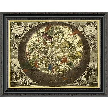 East Urban Home 'Maps of the Heavens: Hemisphaerium Stellatum Boreale Cum Subiecto' Framed Print