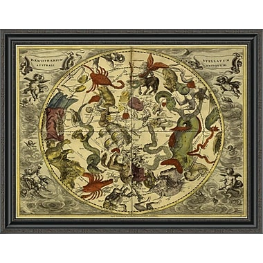 East Urban Home 'Maps of the Heavens: Haemisphaerium Stellatum Australe Antiquum' Framed Print