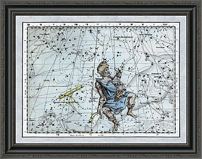 East Urban Home 'Maps of the Heavens: Auriga the Charioteer' Framed Print; 28'' H x 28'' W x 1.5'' D