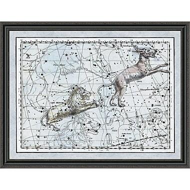 East Urban Home 'Maps of the Heavens: Leo Minor' Framed Print; 16'' H x 44'' W x 1.5'' D