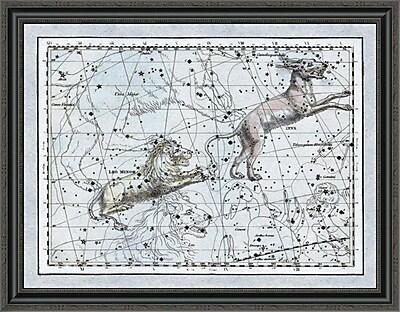 East Urban Home 'Maps of the Heavens: Leo Minor' Framed Print; 34'' H x 36'' W x 1.5'' D