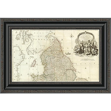 East Urban Home 'England and Wales (Northern Section); 1790' Framed Print; 22'' H x 20'' W x 1.5'' D