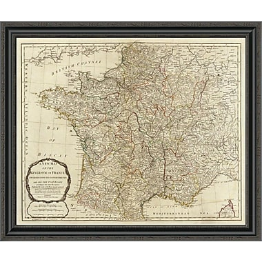 East Urban Home 'A New Map of the Kingdom of France; 1790' Framed Print; 22'' H x 34'' W x 1.5'' D