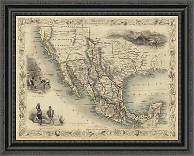 East Urban Home 'Mexico; California and Texas; 1851' Framed Print; 20'' H x 26'' W x 1.5'' D