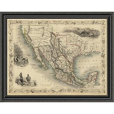 East Urban Home 'Mexico; California and Texas; 1851' Framed Print; 26'' H x 34'' W x 1.5'' D