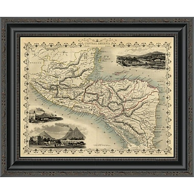 East Urban Home 'Central America; 1851' Framed Print; 34'' H x 20'' W x 1.5'' D