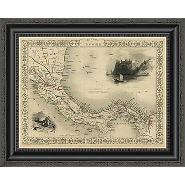 East Urban Home 'Isthmus of Panama; 1851' Framed Print; 27'' H x 20'' W x 1.5'' D