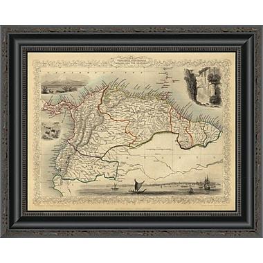 East Urban Home 'Venezuela; New Granada; Equador; and the Guayanas; 1851' Framed Print