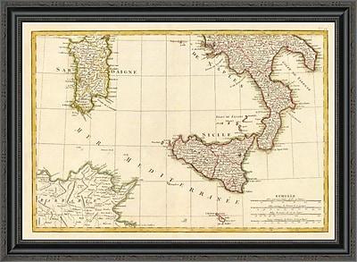 East Urban Home 'L'Italie Meridionale; 1780' Framed Print; 25'' H x 34'' W x 1.5'' D
