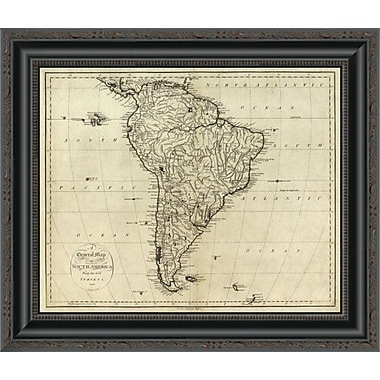 East Urban Home 'Map of South America; 1796' Framed Print; 40'' H x 20'' W x 1.5'' D