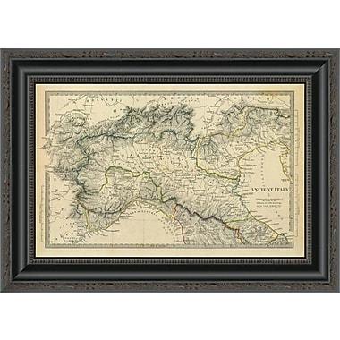 East Urban Home 'Ancient Italy I; 1832' Framed Print; 15'' H x 20'' W x 1.5'' D