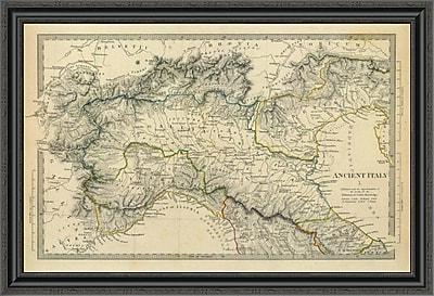 East Urban Home 'Ancient Italy I; 1832' Framed Print; 29'' H x 40'' W x 1.5'' D