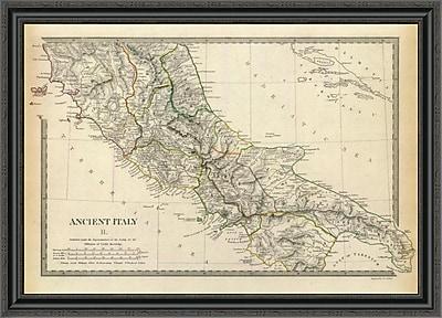 East Urban Home 'Ancient Italy II; 1830' Framed Print; 33'' H x 40'' W x 1.5'' D