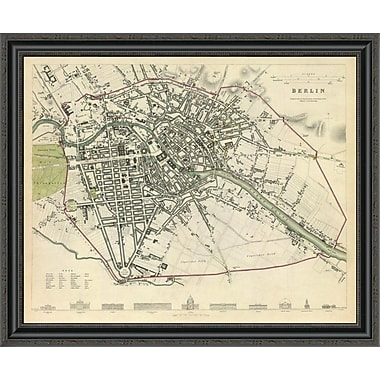 East Urban Home 'Berlin; Germany; 1833' Framed Print; 17'' H x 34'' W x 1.5'' D