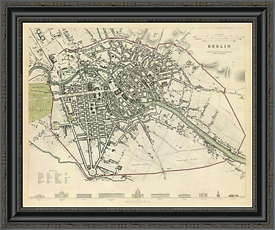 East Urban Home 'Berlin; Germany; 1833' Framed Print; 35'' H x 26'' W x 1.5'' D