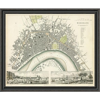 East Urban Home 'Bordeaux; France; 1832' Framed Print; 28'' H x 40'' W x 1.5'' D