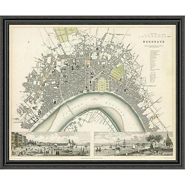 East Urban Home 'Bordeaux; France; 1832' Framed Print; 33'' H x 44'' W x 1.5'' D
