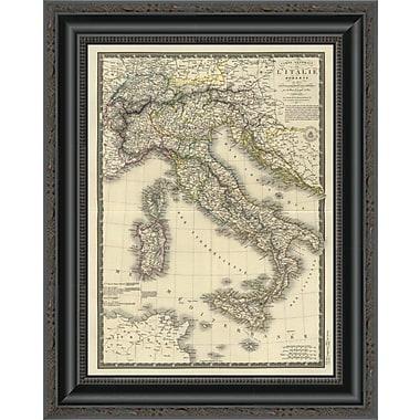 East Urban Home 'Italie Moderne; 1828' Framed Print; 16'' H x 16'' W x 1.5'' D