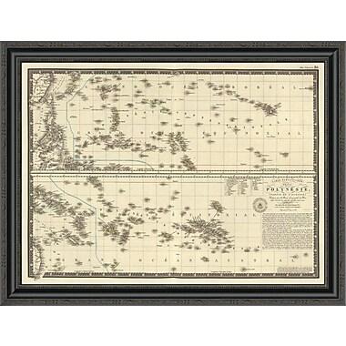 East Urban Home 'Polynesia; 1827' Framed Print; 26'' H x 34'' W x 1.5'' D