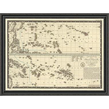East Urban Home 'Polynesia; 1827' Framed Print; 33'' H x 44'' W x 1.5'' D