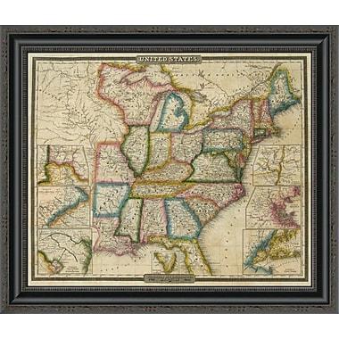 East Urban Home 'United States; 1833' Framed Print; 26'' H x 26'' W x 1.5'' D