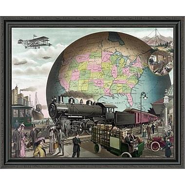 East Urban Home 'Twentieth Century Transportation' Framed Print; 40'' H x 34'' W x 1.5'' D