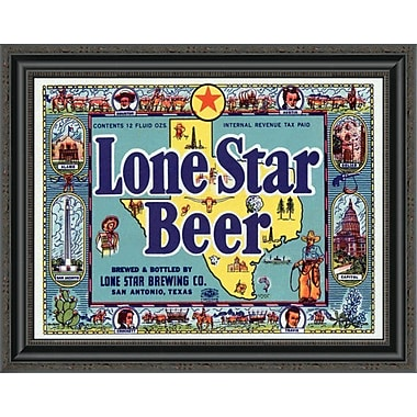 East Urban Home 'Lone Star Beer' Framed Print; 27'' H x 26'' W x 1.5'' D