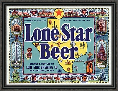 East Urban Home 'Lone Star Beer' Framed Print; 34'' H x 40'' W x 1.5'' D