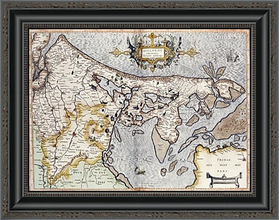 East Urban Home 'Map of Holland' Framed Print; 16'' H x 20'' W x 1.5'' D