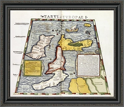 East Urban Home 'Map of Britain' Framed Print; 22'' H x 26'' W x 1.5'' D
