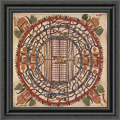 'Manu?Yaloka; Map of the World of Man; According to Jain Cosmological Traditions' Framed Print