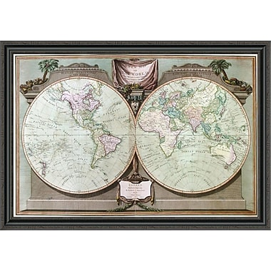 East Urban Home 'Imperial Sheet Atlas' Framed Print; 31'' H x 44'' W x 1.5'' D