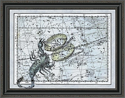 East Urban Home 'Maps of the Heavens: Libra - the Scales & the Scorpion' Framed Print