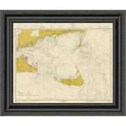 'Nautical Chart - Nantucket Sound and Approaches CA. 1973 - Sepia Tinted' Framed Print