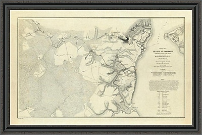 East Urban Home 'Civil War - Official Plan of the Siege of Yorktown Virginia; 1862' Framed Print