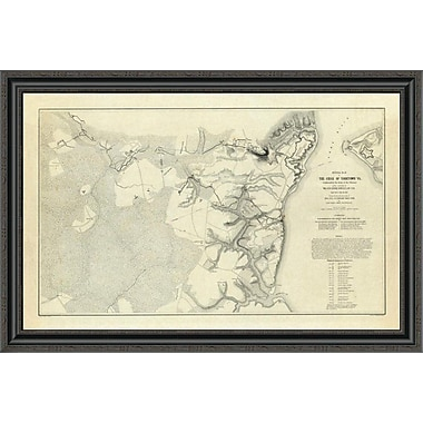 East Urban Home 'Civil War - Official Plan of the Siege of Yorktown Virginia; 1862' Framed Print