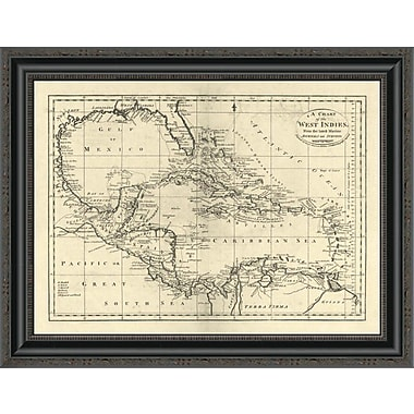 East Urban Home 'Chart of the West Indies; 1795' Framed Print; 19'' H x 26'' W x 1.5'' D