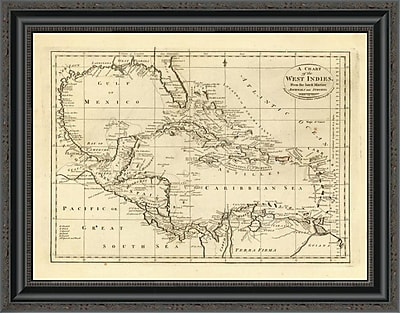 East Urban Home 'Chart of the West Indies; 1811' Framed Print; 26'' H x 26'' W x 1.5'' D