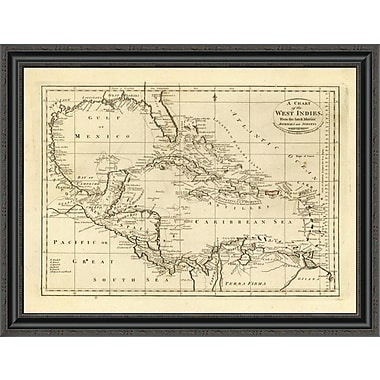 East Urban Home 'Chart of the West Indies; 1811' Framed Print; 34'' H x 34'' W x 1.5'' D
