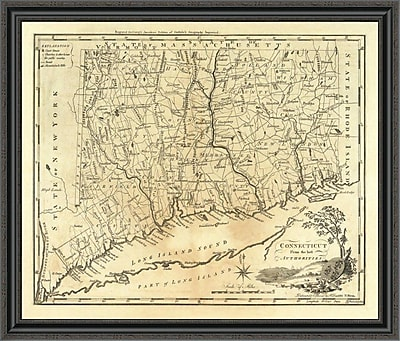 East Urban Home 'Connecticut; 1795' Framed Print; 26'' H x 40'' W x 1.5'' D