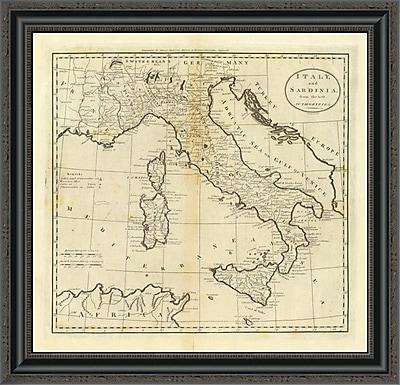 East Urban Home 'Italy and Sardinia; 1796' Framed Print; 31'' H x 26'' W x 1.5'' D
