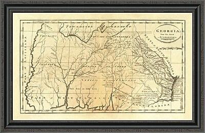 East Urban Home 'State of Georgia; 1795' Framed Print; 40'' H x 34'' W x 1.5'' D