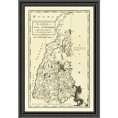 East Urban Home 'State of New Hampshire; 1794' Framed Print; 20'' H x 28'' W x 1.5'' D