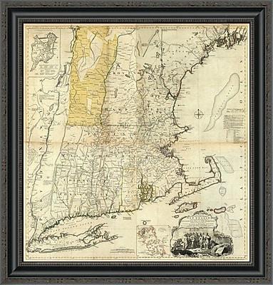East Urban Home 'Composite: New England; 1776' Framed Print; 15'' H x 25'' W x 1.5'' D