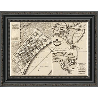 East Urban Home 'New Orleans; Louisiana; 1759' Framed Print; 31'' H x 20'' W x 1.5'' D