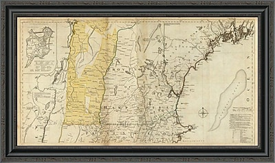 East Urban Home 'The Provinces of Massachusetts Bay and New Hampshire; Northern; 1776' Framed Print