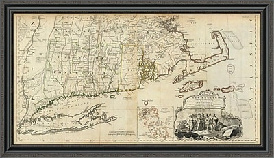 East Urban Home 'The Provinces of Massachusetts Bay and New Hampshire; Southern; 1776' Framed Print