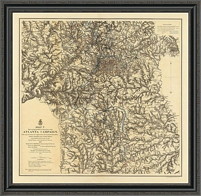 East Urban Home 'Civil War Military Operations of the Atlanta Campaign; 1877' Framed Print